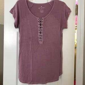 Tops - Lace Up Tee